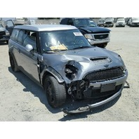 2009 Mini Cooper S Clubman silver grey damaged front for parts