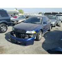 2001 Audi S4 2.7 automatic blue damaged front for parts