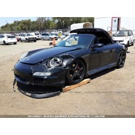 2006 Porsche 911 997 Cabriolet black damaged left front for parts