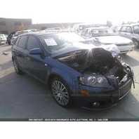 2007 Audi A3 blue damaged front for parts