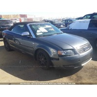 2006 Audi S4 Cabriolet grey under carriage damage for parts