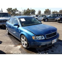 2003 Audi A4 sedan blue damaged rear for parts