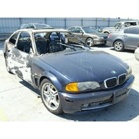 2003 Bmw 330 sedan blue interior fire for parts