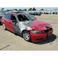 2007 Bmw 328I red interior fire for parts