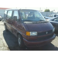 1992 Volkswagen Eurovan red automatic right side damage for parts