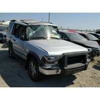 2004 Land Rover Discovery silver roll over damage for parts