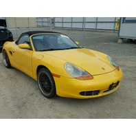 2001 Porsche Boxster S yellow damaged right side for parts