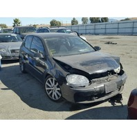2008 Volkswagen Rabbit black 2.5 automatic damaged front for parts