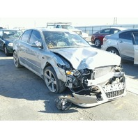 2007 Audi A4 silver sedan 3.2 6 speed damaged right front for parts