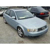 2003 Audi A4 1.8t automatic quattro damaged rear for parts