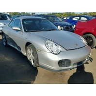 2003 Porsche 911 996 C4S silver damaged left side for parts