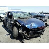 2012 Volkswagen GTI 2 door blue roll over damage for parts