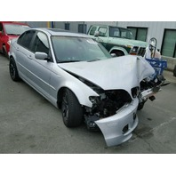 2003 Bmw 325i 4 door silver automatic damaged front for parts