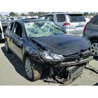 2013 Volkswagen Golf TDI black rollover damage for parts