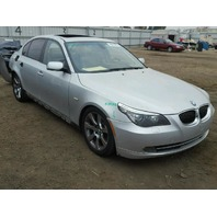 2008 Bmw 535I silver automatic damaged rear for parts