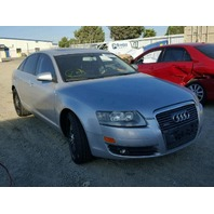 2006 Audi A6 3.2 silver damaged rear for parts