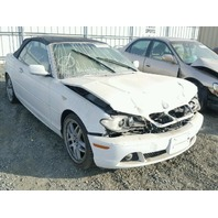 2006 Bmw 330Ci white damaged front for parts