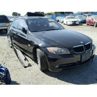 2006 Bmw 325I black damaged left side for parts