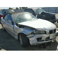 2001 Bmw 330CI silver damaged right front for parts