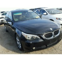 2004 Bmw 530I Black damaged left side for parts