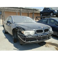 2004 Bmw 745Li black front suspension damage for parts