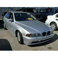2002 Bmw 530I silver damaged left side for parts