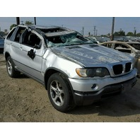 2003 Bmw X5 silver roll over damage for parts