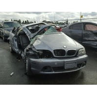 2005 Bmw 325Ci grey damaged right side for parts