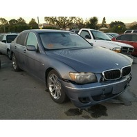 2006 Bmw 750I Grey Damaged Front