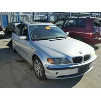 2004 Bmw 325 silver damaged rear for parts