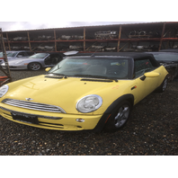 2005 Mini Cooper non supercharged automatic yellow rear damage for parts
