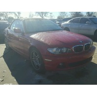 2004 Bmw 330CI convertible red damaged rear for parts
