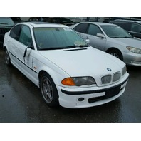 2001 Bmw 330I 4 door white damaged right side for parts