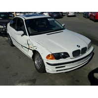 1999 Bmw 323I 4 door white damaged right side for parts