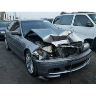 2003 330I BMW SDN 4DR/GREY FRONT DAMAGED FOR PARTS