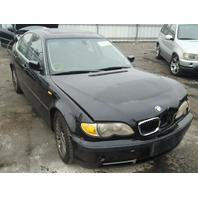 2003 Bmw 330i 4dr black damaged front for parts