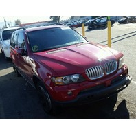 2006 BMW X5 Red Damage Front For Parts