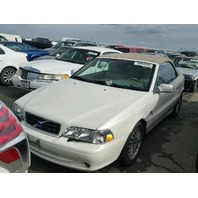 2004 Volvo C70 White Convertible Rear Damaged For Parts