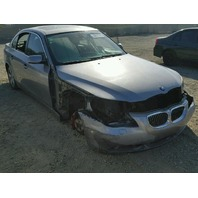2007 BMW 530I SDN 4DR/GREY FRONT DAMGED FOR PARTS
