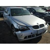 2006 BMW 525I Silver Sedan Damage Left For Parts