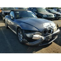 2001 Z3 BMW CONV 2DR/GREY FRONT DAMAGE FOR PARTS