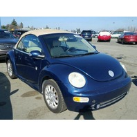 2005 Volkswagen Beetle Conv blue for parts