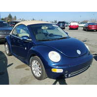 2005 Volkswagen Beetle Conv blue for parts
