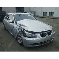 2008 535I BMW SDN 4 DR/SILVER RIGHT FRONT DAMAGE FOR PARTS