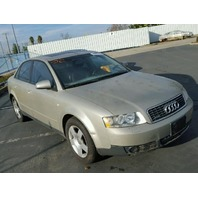 2002 A4 AUDI SDN 4DR/BEIGE FOR PARTS
