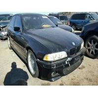 2000 BMW 528I Black 2.8L Sedan Damage Left Side For Parts