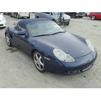 2000 Porsche Boxster Convertible 3.2 Blue Damage Left For Parts