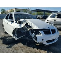 2008 328I BMW SDN 4DR/WHITE FRONT DAMAGE FOR PARTS