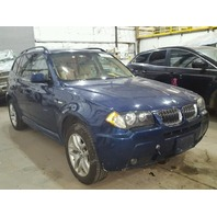 2006 X3 BMW WGN 4DR/BLUE RAR DAMAGE FOR PARTS