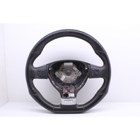 2009 Volkswagen Golf GTI Base 3 Spoke Leather Flat Bottom Steering Wheel